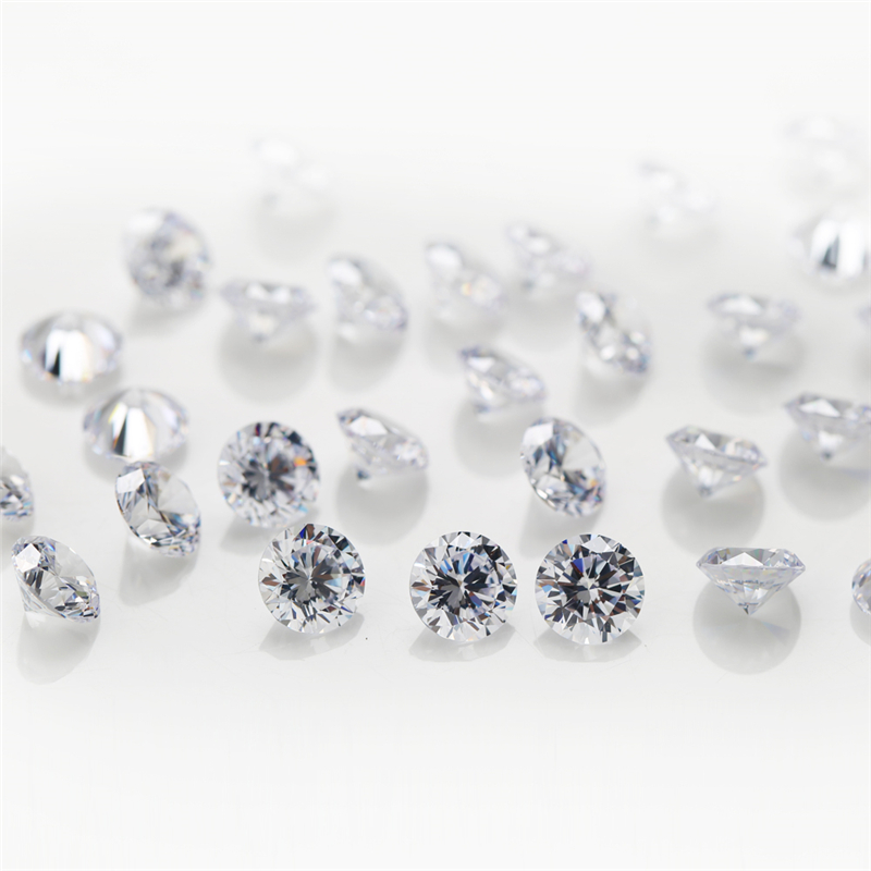 2 Cubic Zirconia Round White 1mm (1)