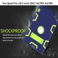 Case עבור אפל iPad כיסוי pro 10.5 inch A1701 A1709 שלוש שכבה היברידי Heavy Duty שריון Defender מגן גוף מלא מקרי