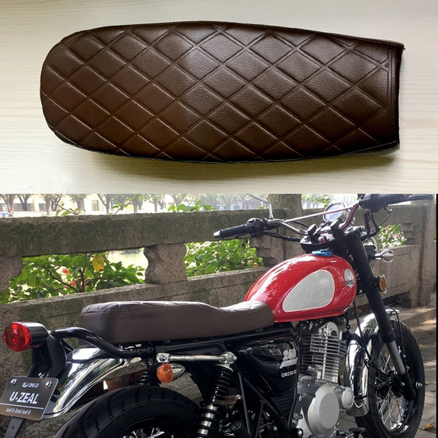 Cafe Racer Diamond Shaped Checkered Motorcycle Modified Seat Cushion