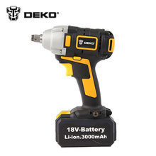 DEKO 18V Li-ion 0-2300r/min 3.0Ah 280N.m Electric Impact Wrench Car Tyre Wheel Wrench Cordless Drill