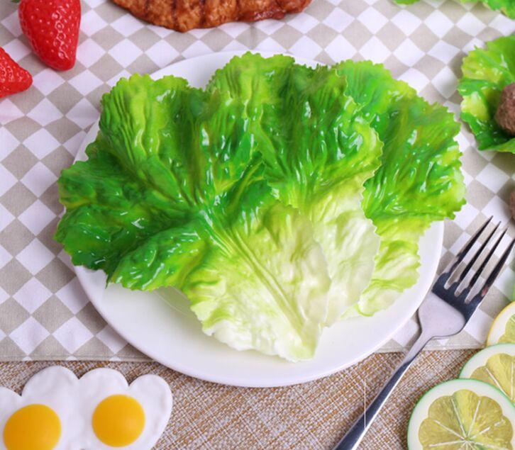 Simulation-Lettuce Food-Dish Fruit Shooting Plastic Fake-Leaf Leaf-Model Vegetable And