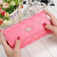 Elegant Women Long Leather Wallet