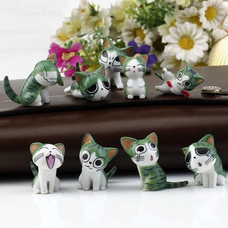 Gatos Ornamento Do Jardim Estatueta De Fadas Casa De Bonecas em miniatura Micro Paisagem Decoração W20