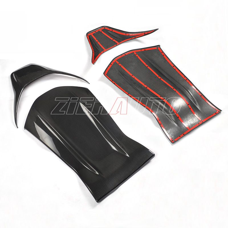 Carbon Fiber Interior Trims Seat Cover For Mercedes-Benz A45 AMG Full/Dry Carbon Fit Seat Back A 45 AMG Carbon Style Stickers