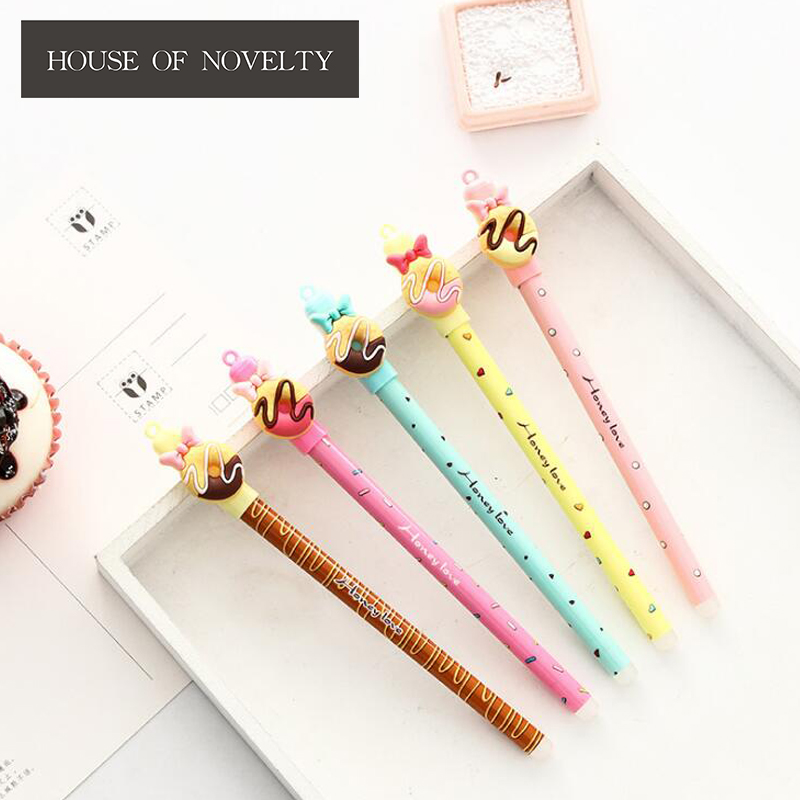 0.5 mm Novelty Doughnut Sweet Cake Gel Pen Promotional Gift Stationery School & Office Supply
