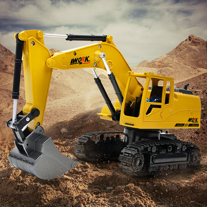 Rc Trucks Straightforward Toy For Boys Excavator Rc 1:24 Toys With Music Rc Engineering Car Tractor 2.4gz Remote Control Vs Huina Toys Hot Sale 50-70% OFF Toys & Hobbies