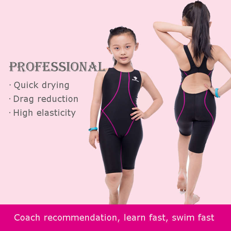 960b37ffc5 HXBY Competition Swimsuit For Girls One Piece Children\'s Professional  Swimming Suit For Girl Competitive Swimwear Kids Knee Swim Warm Tips: