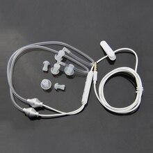 למעלה עסקות אנטי קרינה Binaural אוזניות סטריאו אוזניות עם מיקרופון אוניברסלי 3.5mm רעש אוויר צינור Acoust