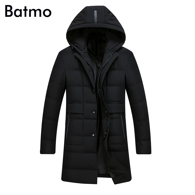 Batmo 2017 new arrival winter high quality 90% white duck down casual hooded jacket men,winter mens coat plus-size ,8915