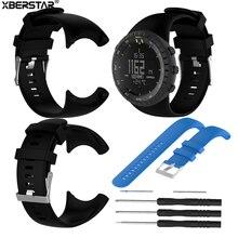 304b8c17dfc Substituição de Pulso faixa de Relógio Cinta para Pulseiras de Relógio SUUNTO  CORE Tudo Preto Dos