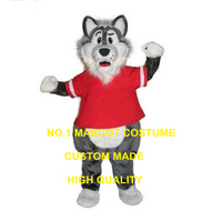 New big bad grey wolf Cartoon Mascot Costumes Custom Made Christmas Doll Plush Free Shipping fancy dress for carnival 2549