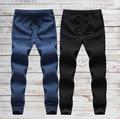 LINEN Cotton Material Breathable Ankle length Harem Joggers Pants joggers elastic Plus size M-5XL trousers for men Solid MQ462