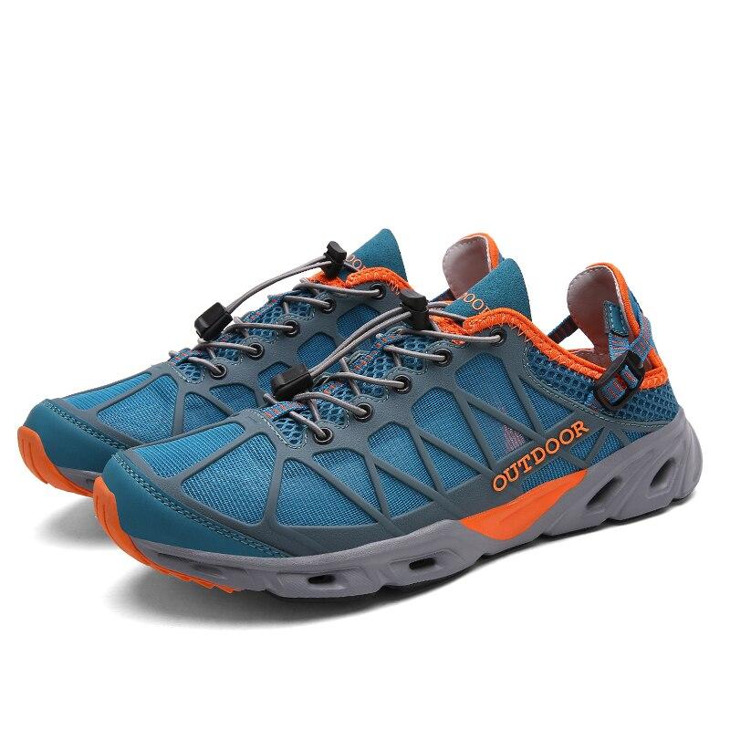 Для мужчин Быстросохнущие кроссовки быстросохнущая Для женщин Для мужчин наружная водонепроницаемая обувь; Нескользящие износостойкие Ал...