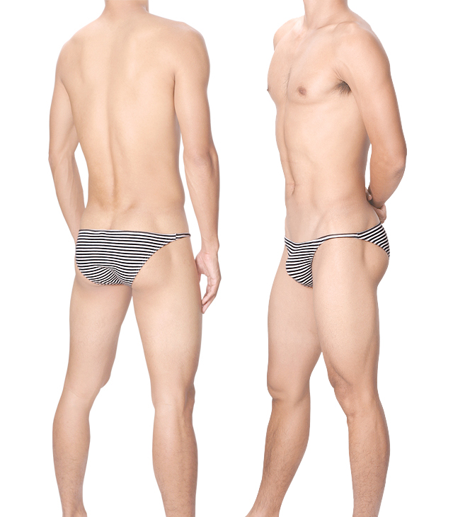 Sexy Men Underwear Cotton Briefs Shorts Man Striped Underpants U Convex Pouch Low Waist Panties  Calzoncillos Cuecas M-XXL