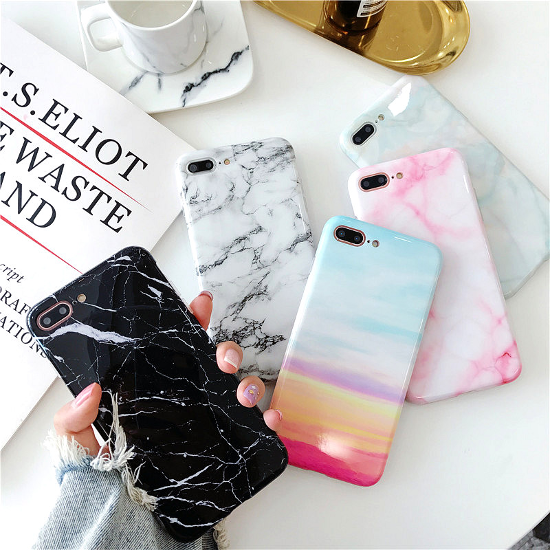 Tzomsze Luxury Marble Phone Case For iPhone 7 Case For iPhone X 7 6 6S 8 Plus Case Cover 8Plus 7Plus Coque Fundas Capa carcasa