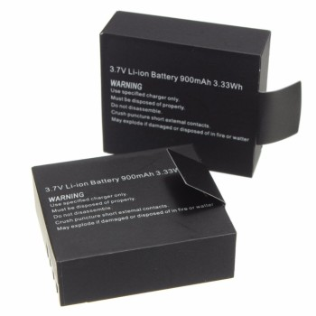 2Pcs 3.7V 900mAh Rechargable Li-ion Battery For SJ4000 WiFi SJ5000 WiFi M10 SJ5000x Elite Goldfox Action Camera