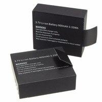2 Stks 3.7 V 900 mAh Oplaadbare Li Voor SJ4000 WiFi SJ5000 WiFi M10 SJ5000x Elite Goldfox Action Camera