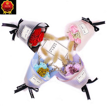 Car Interior Air Freshener Handmade Rose Flower Conditioning Outlet Perfume Fragrance Clip lot Lovely Ornaments