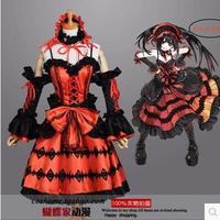 New Popular Cos Tokisaki Kurumi Cosplay Anime DATE A LIVE Cosplay Halloween Full Set 4in1 Dresses
