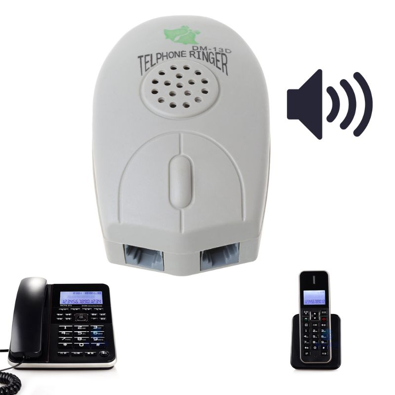 1PC Networking Tools Amplifier Landline Phone Bell Ringer Extra Loud Telephone Ring For The Old Elder