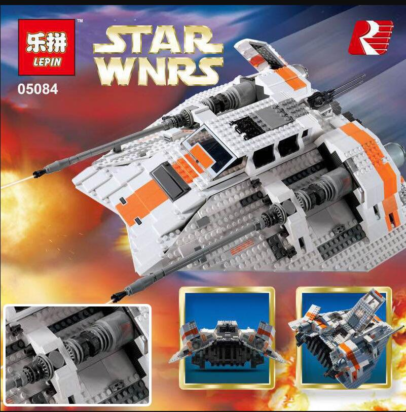 IN Stock 75144 Lepin 05084 UCS Series The Rebel Snowspeeder Set Educational Building Blocks Bricks Boy Toys Model Gifts 10129 in stock lepin 23015 485pcs science and technology education toys educational building blocks set classic pegasus toys gifts