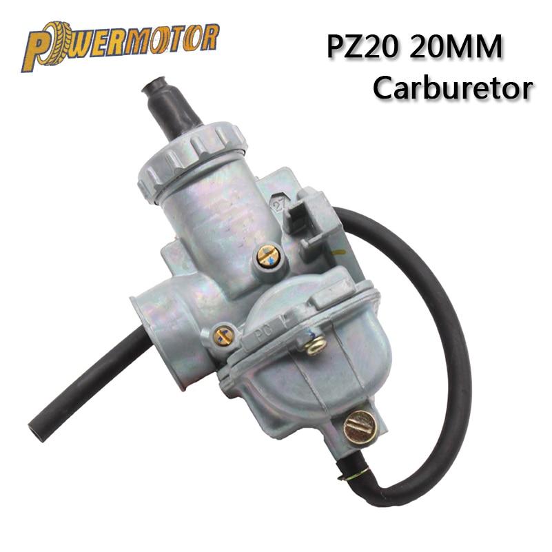 JINGKE PZ20 20mm Carburetor for 50cc 70cc 90cc 110cc 125cc ATV Dirt Pit Bike Quad Go kart UTV Coolster Roketa Taotao SunL JCL Honda