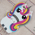 Verão 3D Grande Bonito Unicórnio Macio TPU Silicone Case Capa Voltar Para huawei p9 para iphone7 7 mais 6 6 mais linda rainbow caso cavalo