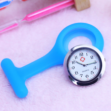 2019 cyd women men doctor nurse brooch hanging watches silicone quartz pocket boys girls Luminous hands electronic clock