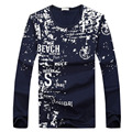 2017 New Arrival Men Printed Casual T shirt High Quality Men Long Sleeve T-shirts Autumn Wear tshirt homme brand clothing