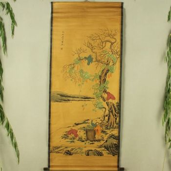 China Antique collection Boutique Calligraphy and painting five children diagram