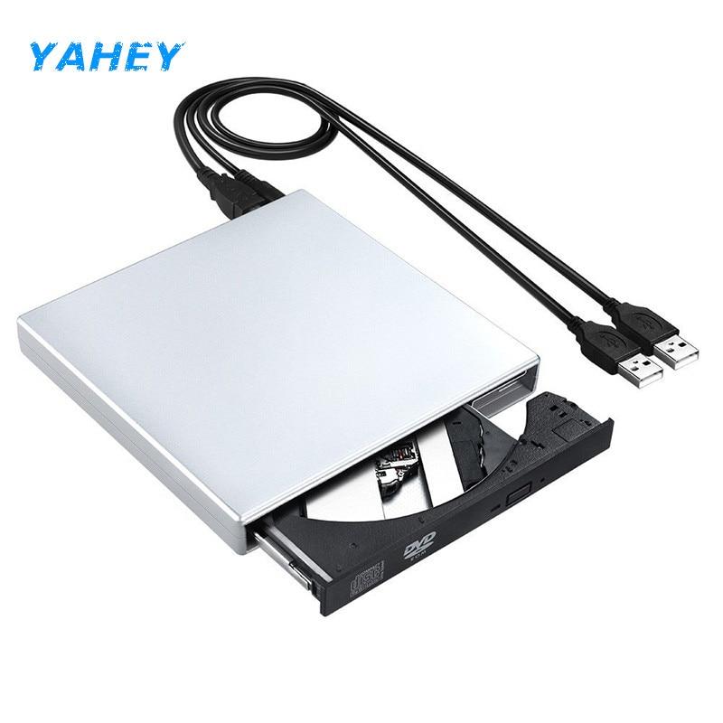USB 2.0 Portable DVD Drives slim External Optical Drive CD-RW Burner DVD ROM Player for Computer Windows 2000/XP/10/7/10, MAC OS