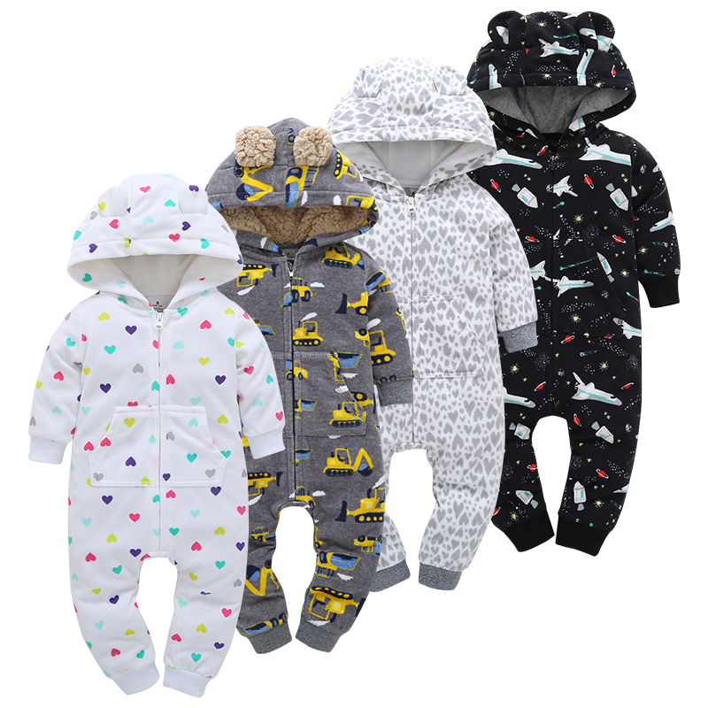 baby   rompers   winter autumn Baby Boy girl Clothes Newborn infant cotton warm Jumpsuits toddler new born unisex clothing