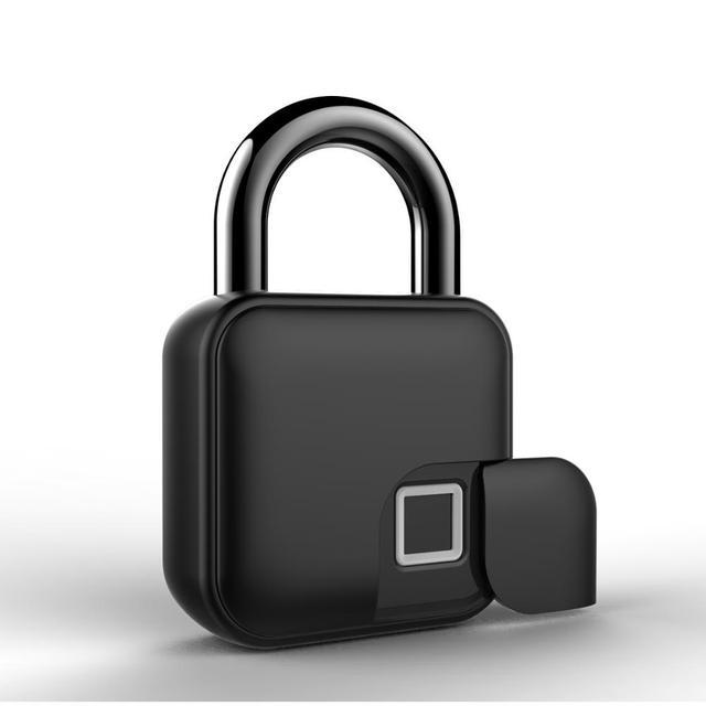 Usb rechargeable smart lock keyless fingerprint lock ip65 waterproof anti-theft security padlock door luggage case lock fll3 3