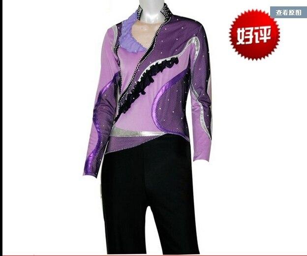 557579b4d € 211.08 10% de DESCUENTO Ropa de patinaje de figura personalizada para  hombres/niños moda nueva marca Vogue figura patinaje competición disfraz ...