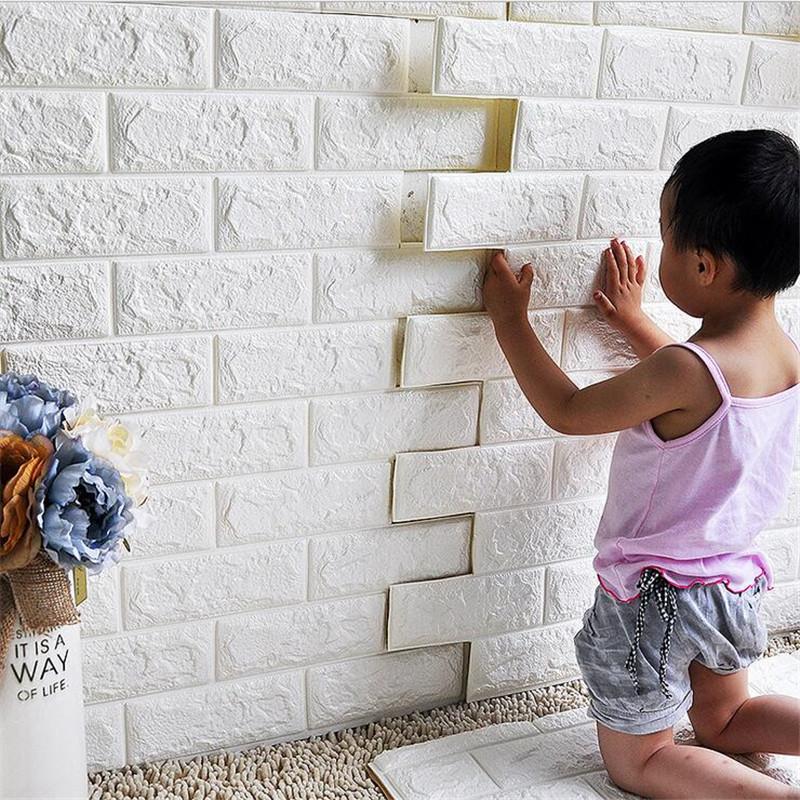 6060 Cm Wasserdichte 3D Wandaufkleber Sicherheit Pe Schaum Dekorative Wand Fliesen Diy Hauptdekor