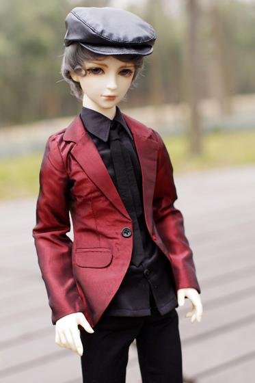 [wamami] 507# Red Clothes/Suit 1/4 MSD DZ BJD Boy Dollfie [wamami]507 silver suit sd17 dod70 dz bjd boy dollfie