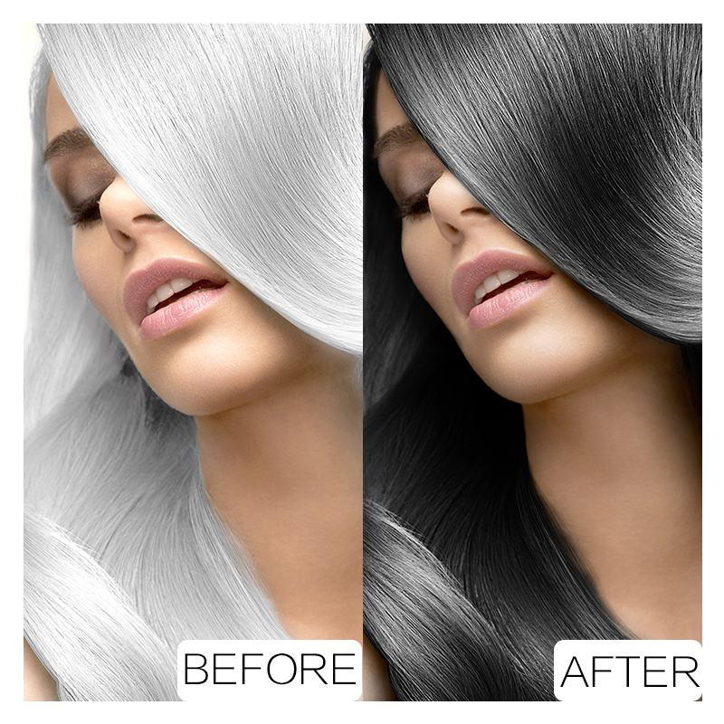 5pcs/lot Instant Black Hair Shampoo Black Hair Dye Make Grey and White Hair Colored Darkening and Shinny in 5 Minutes Make Up