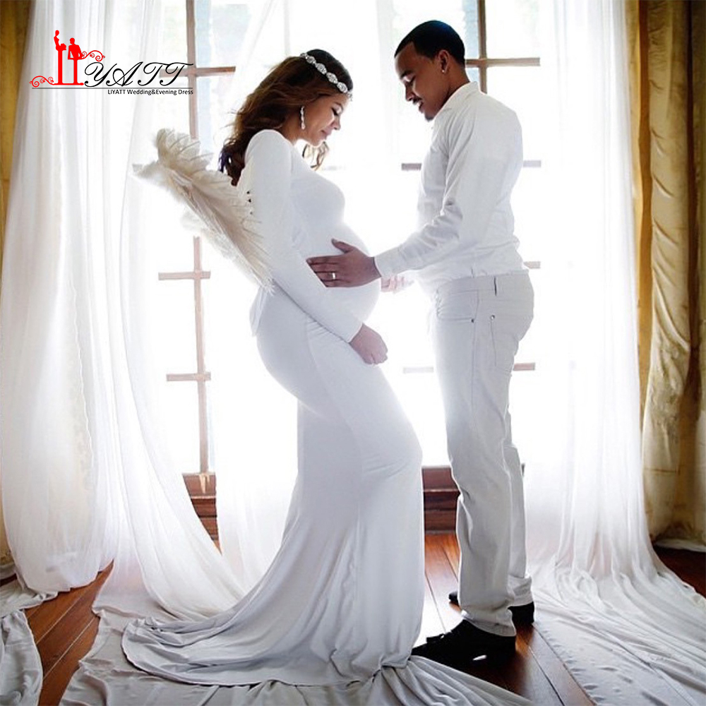 Buy simple white pregnant wedding dress for Simple wedding dress for pregnant
