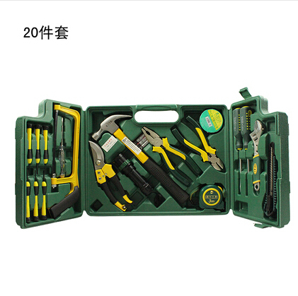 Household Tool Set Electrical Maintenance Shears Ruler Screwdriver Wrench Hammer Flashlight Diagonal-nosed Pliers Test Pencil 20pcs m3 m12 screw thread metric plugs taps tap wrench die wrench set