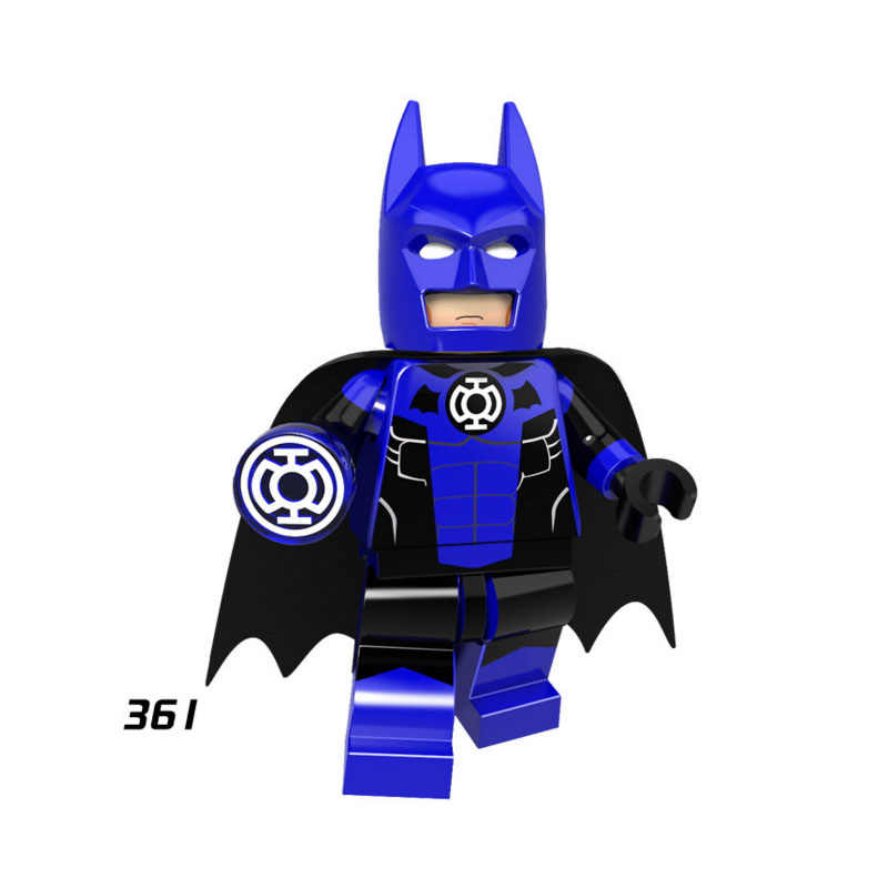 Single Sale Super Heroes Star Wars 361 Blue Lantern Batman Mini Building Blocks Figure Bricks Toy gift