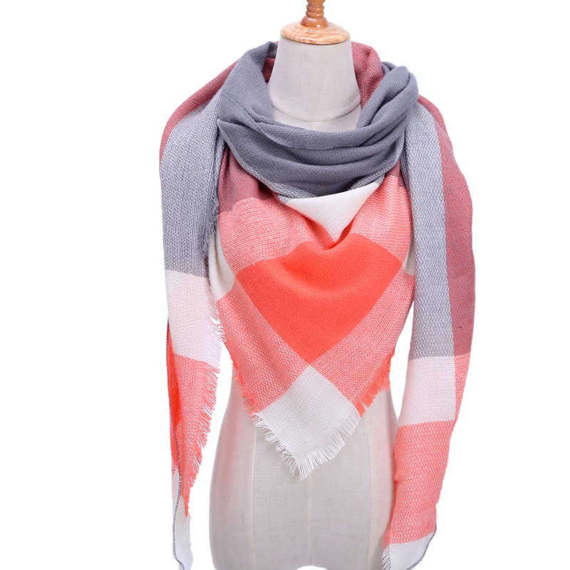 Бандана палантин платок на шею шарф зимний Дизайнер трикотажные весна-зима женщины шарф плед теплые кашемировые шарфы платки люксовый бренд шеи бандана пашмина леди обернуть - Цвет: b20
