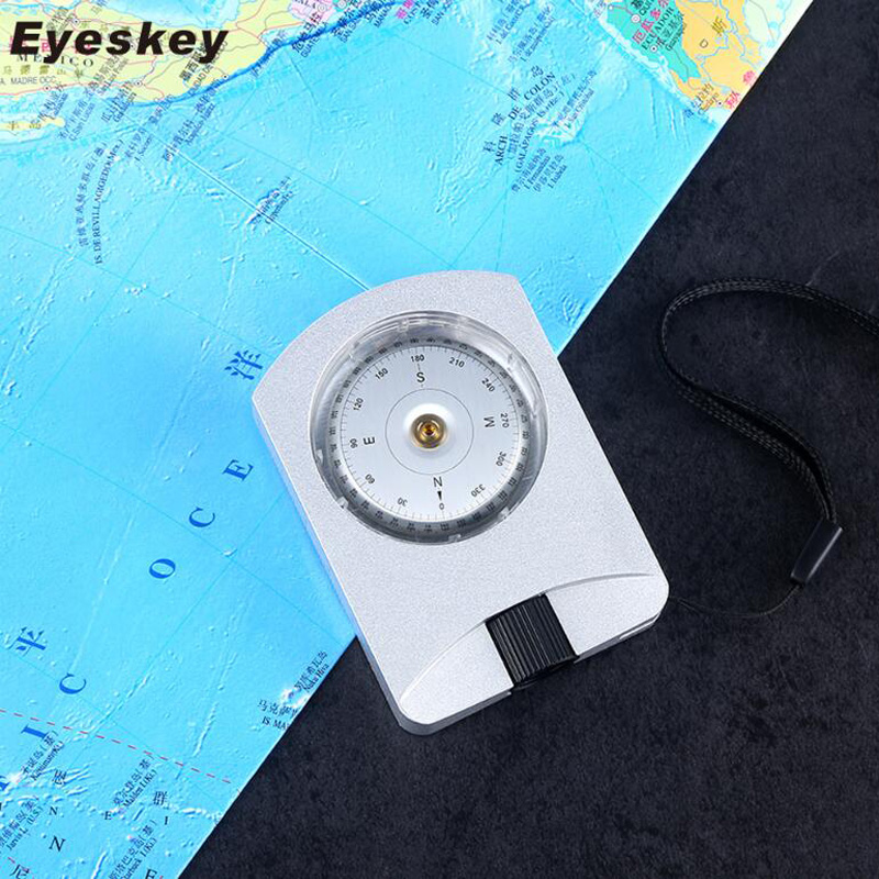Eyeskey Professional Multi functional Survival Compass Camping Hiking Compass Digital Compass Map Orientation Waterproof hiking camping copper alloy compass golden page href