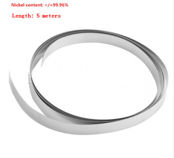 5M 99.96% pure nickel for 18650 Battery Nickel strip nickel plate cell nickel belt Lithium battery connecting sheet фото