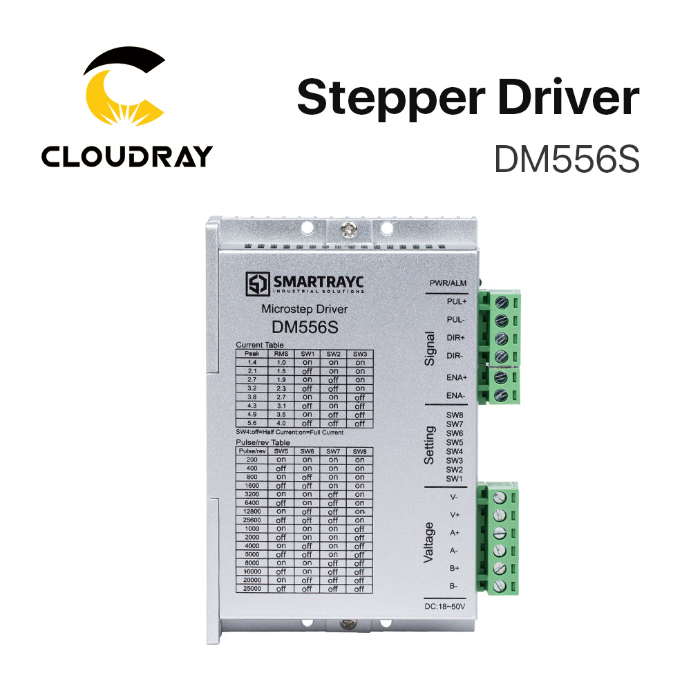 Cloudray 2 Phase Stepper Motor Driver DM556S Supply Voltage 18 50VDC Output 1 4 5 6A