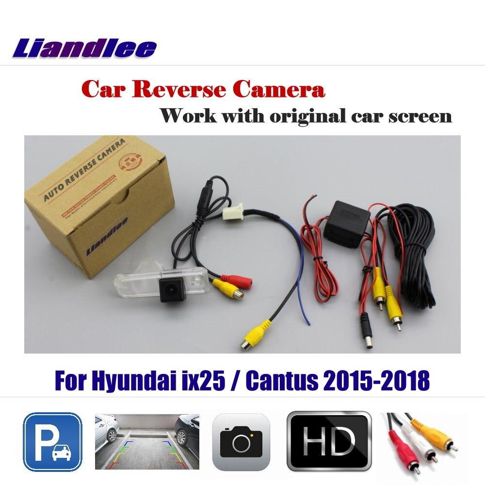 Carro Reversa Invertendo Estacionamento Camera Para Hyundai ix25 Liandlee/Cantus 2015-2018 Display/Retrovisor de Backup de Volta câmera
