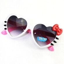 Детские солнцезащитные очки, модные, в форме сердца, милые, UV400, дизайнерская оправа, очки для маленьких девочек