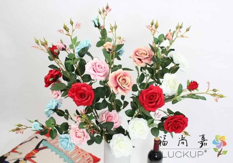 1 pièces belle fausse fleur artificielle 90 cm longue tige soie Rose mariage décoration maison cadeau 5 couleurs disponibles F460