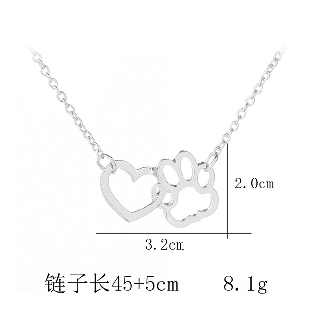Small Hollow-Out Paw Patterned Pendant