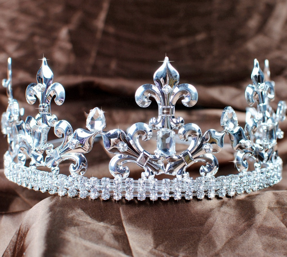 Men s King Prince Tiaras Imperial Medieval Crowns Fleur De Lis Rhinestonea Crystal Handmade Headpiece Pageant
