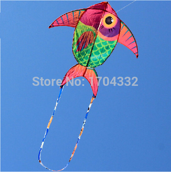 Outdoor Fun Sports NEW Listing Red Fat Fish Kite /Cartoon Kites With String And Handle Good Flying